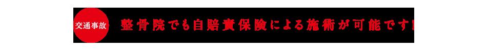 整骨院でも自賠責保険による施術が可能です! | 東京 目黒 整骨院